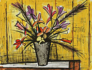 Bernard Buffet: Flowers 1991 - watercolor
