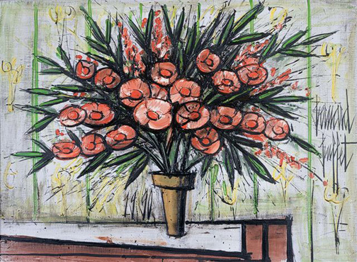 Bernard buffet: Lauren Rose II, 1990 - painting