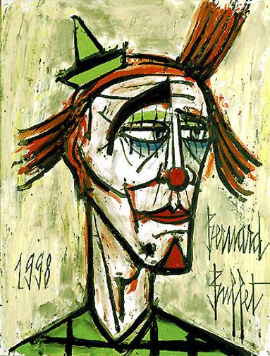 Resultado de imagem para bernard buffet  the clown