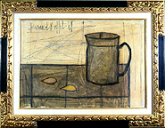 Bernard Buffet: Nature Morte au Pichet, 1949 - Painting