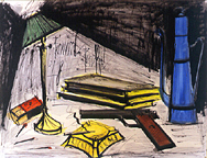 Bernard Buffet: Nature Morte au Pot a Café et Cendrier, 1978, Watercolor