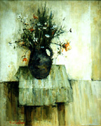 Michel de Gallard: Flowers in a Vase