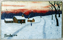 Camille Bombois: Landscape with Snow, 1922 - Painting