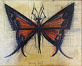 Bernard Buffet: Butterfly - Painting