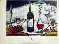 Bernard Buffet: Label for Chateau Pape Clement Wine