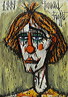 Bernard Buffet: Clown, 1999 - painting