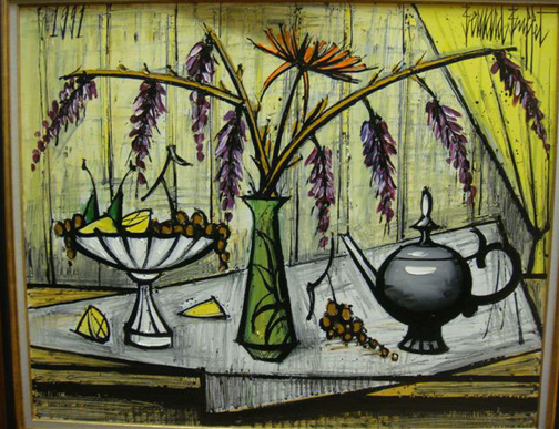 Beranard Buffet: Still Life, 1991 - painting
