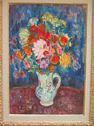 Charles Camoin: Flowers in a Pichet, ca. 1938 - Painting