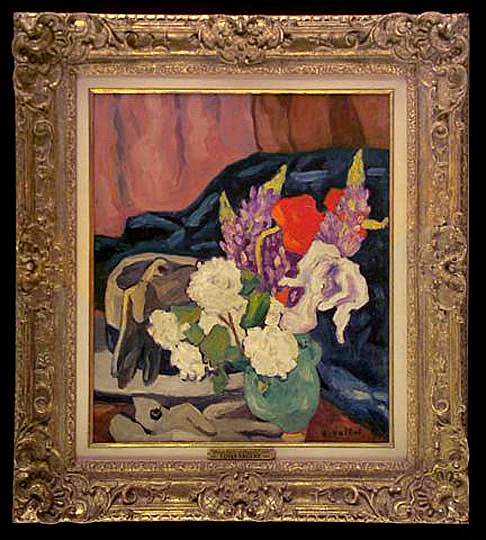 louis valtat  hat  gloves and flowers  1914